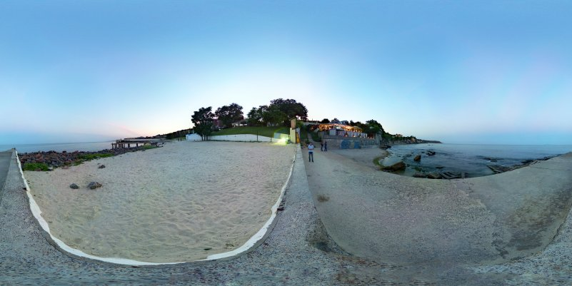 морской берег панорама